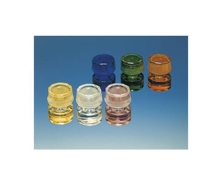 Kappengläser aus Buntglas