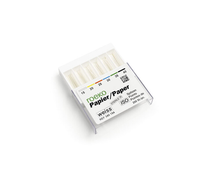 Roeko Papierspitzen weiß < 25 mm